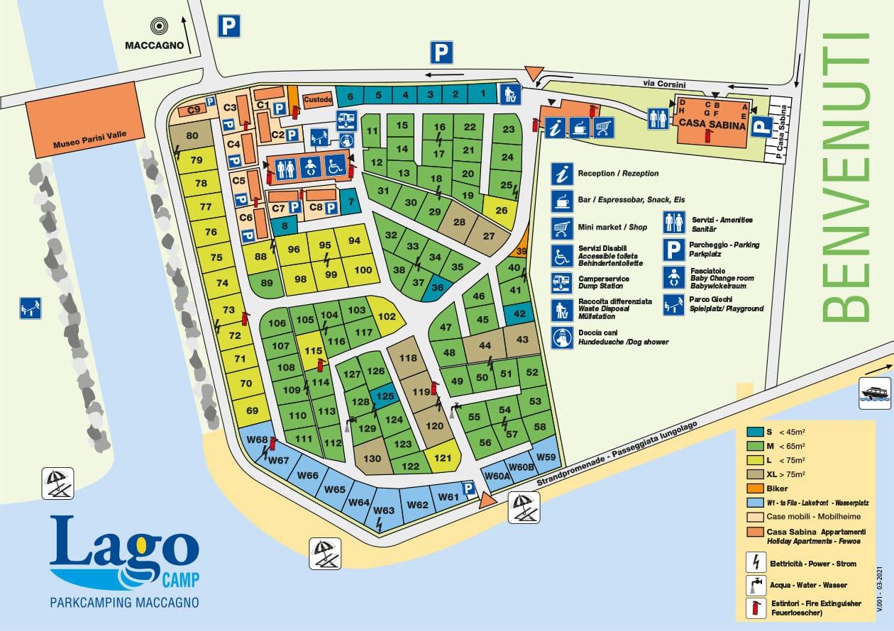 Lageplan des Lagocamp Campingplatzes