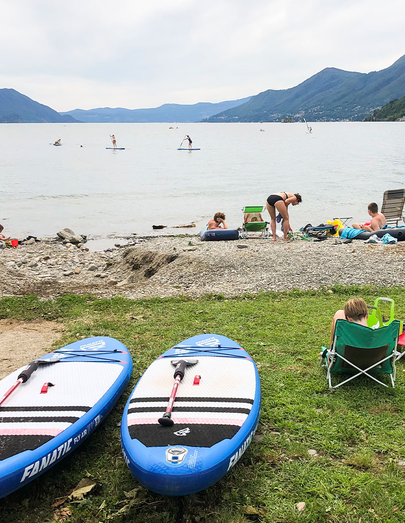 Stand Up Paddling am Lago Maggiore