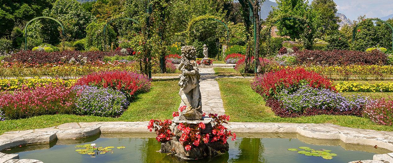 Den Park der Villa Pallavicino besuchen