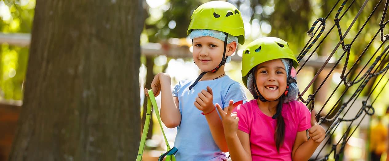Kletterparks für Kinder und Erwachsene